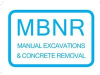 MBNR Manual Excavations and Concrete Removal