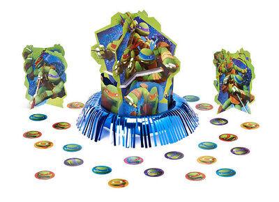 Ninja Turtle Table Decorations (TEENAGE MUTANT NINJA TURTLES happy birthday TABLE DECORATING KIT 3)