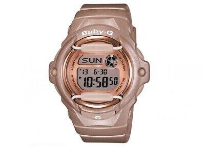 - Casio BG169G-4 Women's Baby-G Grey Dial Databank Alarm Pink Resin Digital Watch