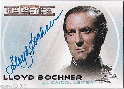 THE COMPLETE BATTLESTAR GALACTICA A5 LLOYD BOCHNER CMDR LEITER AUTOGRAPH