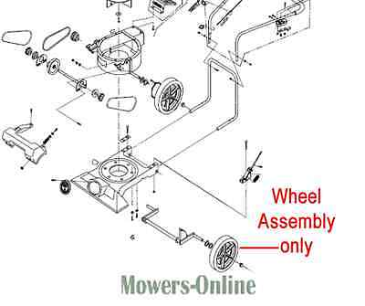 Billy Goat Vacuum Wheel Assembly 900760 KD502SPQ KD510SP KD511SP KD512SP TKD505
