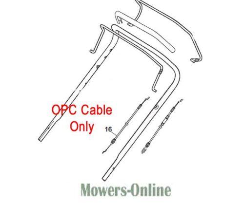 MOUNTFIELD SP555V PETROL LAWNMOWER OPC ENGINE BRAKE CABLE 181030070//0