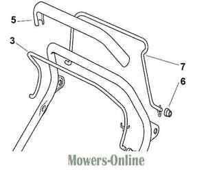 Mountfield Genuine Clutch Drive Control Lever 181003288/1 Lawnmower Handle