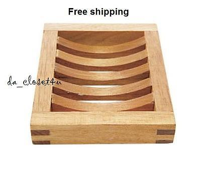 Brand NEW IKEA Soap Holder Soap Dish Solid Wood Birch Molger Bathroom Kitchen   (Ikea Soap Dish)