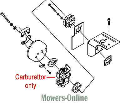Genuine Mitox Blower Vacuum Carburettor MI1E48FP.2 650B 650-B 65B
