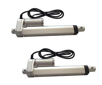 2Sets Heavy Duty Linear Actuator 8 Inch Stroke 225Lb Max Lift Output 12 Volt Dc