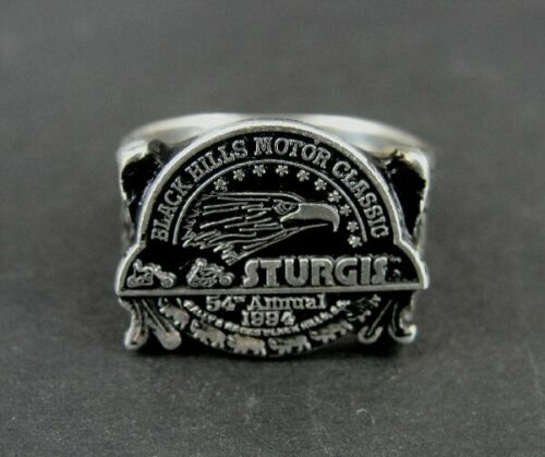 Ring Sturgis Motorcycle 1994 Black Hills Motor Classic Sterling Silver Size 12