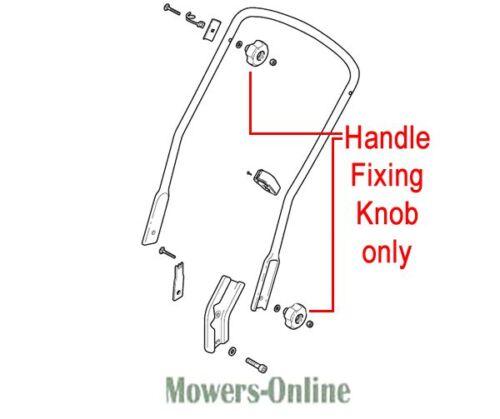 2 x MOUNTFIELD SP555 LAWNMOWER HANDLE KNOBS 322399810//0