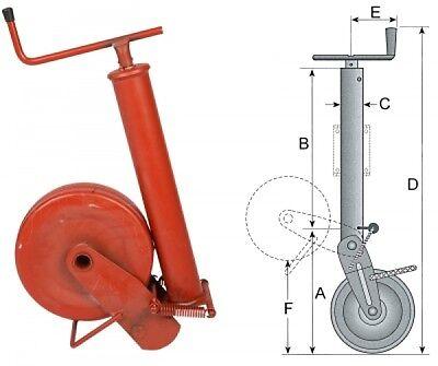 Stützrad für Anhänger 1500 kg Tragfähigkeit halbautom. mit Feder