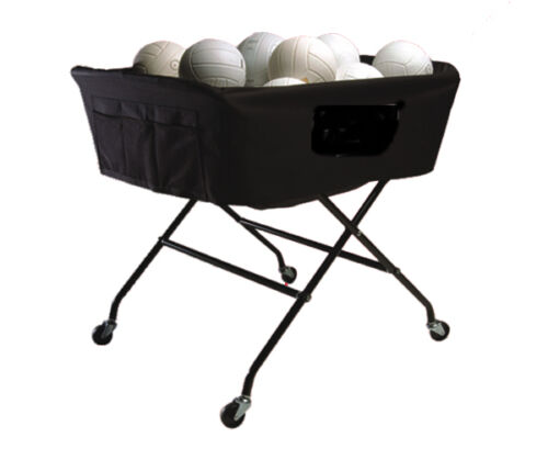 Heavy Duty Over-sized Volleyball Cart - Holds 40 Balls -