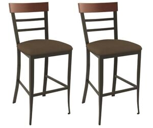 BNIB - AMISCO Cate Rustic Counter Height Stools (Brass) - PAIR