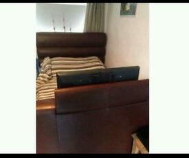 Double bed with built in lg 32inch tv