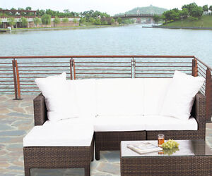 Only $688 (Save $800 this week) 5pc Resin Wicker Patio Sectional