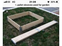 Pallet sleeves ideal for garden