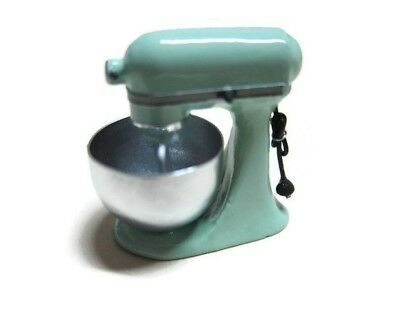 Dollhouse Miniatures PISTACHIO Mixer Stand Kitchenware Electric Bakery Cooking