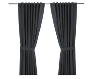 Curtains with tie