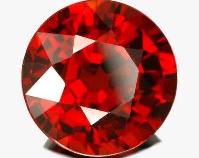 RED GARNET 10 MM ROUND CUT ALL NATURAL