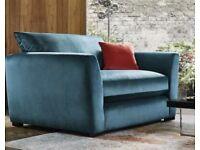 Plush Teal Velvet Snuggle Chair ***New***