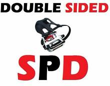 BRAND NEW DOUBLE SIDED SPD SPIN BIKE CYCLING PEDALS GYM FITNESS Wangara Wanneroo Area Preview