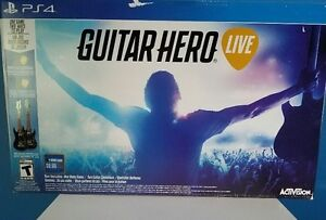 PS4 Guitar Hero Live 2 pack Used a couple of times only - Mint!