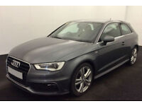 Grey AUDI A3 SALOON 1.6 1.8 2.0 TDI Diesel SPORT S LINE FROM £57 PER WEEK!