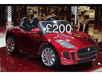 Licensed Jaguar F type ride on car with remote control music and lights (leeds) only £200