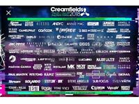 4 day standard camping Creamfields ticket