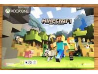**SEALED** XBOX ONE S & MINECRAFT GAME BRAND NEW AND INCLUDES ONE YEAR WARRANTY. LATEST XBOX1 S