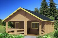 Timberlodge  Chalet kit 21' x 31'  The Loft with Den
