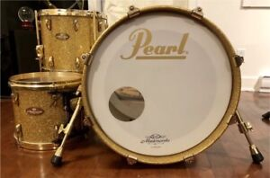 Pearl Masterworks 3 Piece Shell Pack; Gold Sparkle/24k gold hw