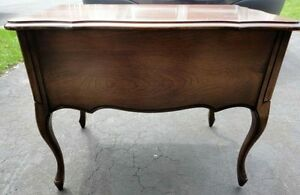 Vintage solid wooden queen anne legs side table with drawer London Ontario image 7