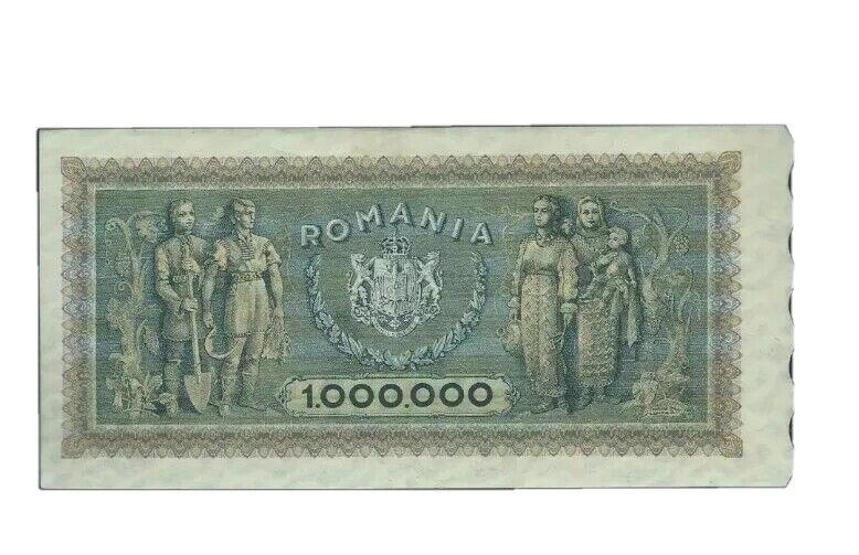 1947 Romania 1000000 LEI Banknote - RARE Note - NR