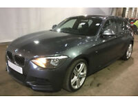 Grey BMW 118d M Sport 2.0 2014 143bhp 5 door Alloys FROM £57 PER WEEK!