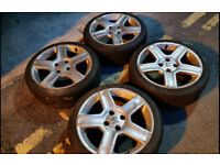 """17"""" peugeot 206 sport challenger wheels and tyres 106 306 new tyres"""