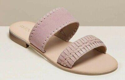 NEW Jack Rogers TINSLEY Suede Slides Mules Mauve BLUSH Pink Leather Sandal 7 8 9