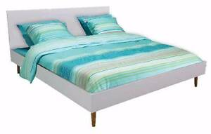 "High Gloss Finish Queen Size Bed with Solid Ash Legs ""Contempo"" Melbourne CBD Melbourne City Preview"