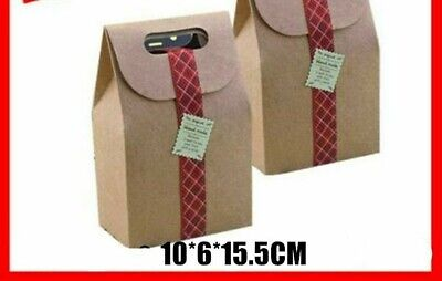 Kraft Paper Cake Box Pastry Packaging With Handle 5 Pcslot 10615.5cm Supplies