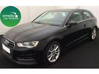 £208.22 PER MONTH BLACK 2013 AUDI A3 2.0 TDI SPORT 3 DR DIESEL MANUAL *WITH NAV*