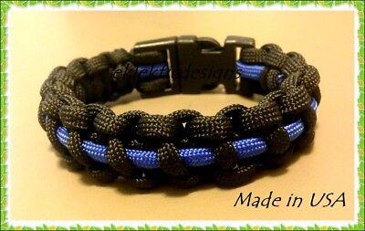 550 Paracord Survival Tactical Military Bracelet Police Thin Blue Line Pick Size