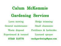 Calum McKemmie Gardening Services - Lawns, hedges, clearance, weed control, maintenance gardener