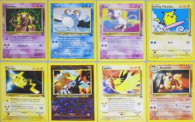 -Rare- 1999-2001 -Pokemon- WOTC Promo TCG Card Lot - Holo Foil/Pikachu++