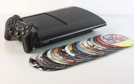 Sony Playstation 3 PS3 500gb Super Slim + 18 Games