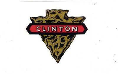 Clinton Gas Engine Motor Hit Miss Decal Arrowhead