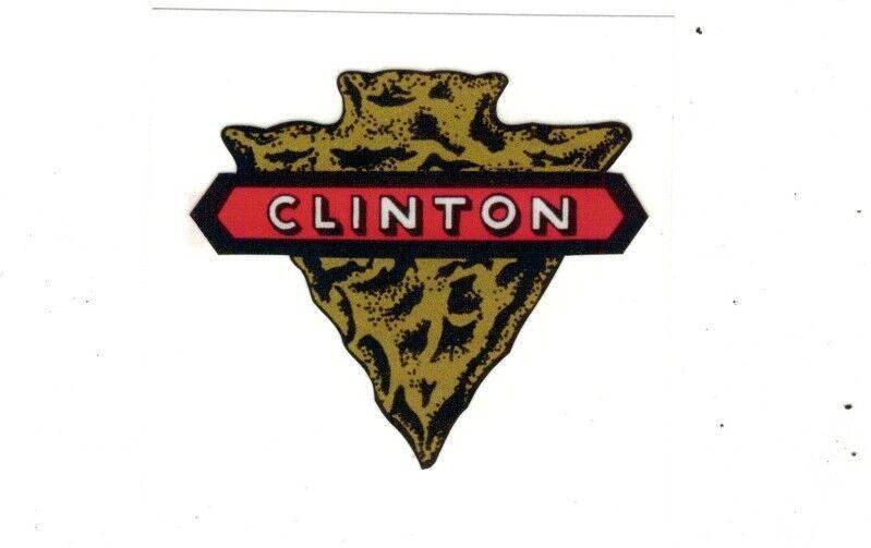 Clinton Gas Engine Motor Hit & Miss Decal Arrowhead