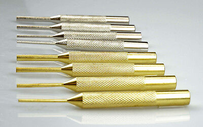 New 8 PC ARMORER GUNSMITH BRASS AND STEEL TUBE PUNCH DRIFT PIN SET