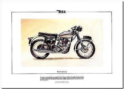 BSA Gold Star DBD34 Motor Bike Classic Motorcycle Print