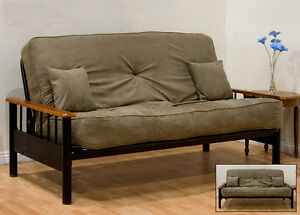 Convertible Futon Sofa Bed (Frame and Mattress)