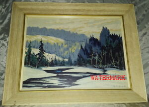 CANADIAN WINTER LANDSCAPE OIL PAINTING, SIGNED