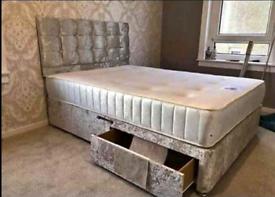🔥Affordable crush velvet divan beds- FREE DELIVERY