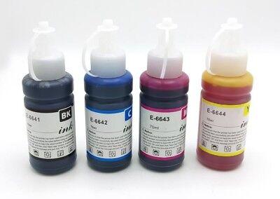 Set of T664 non-OEM Ink Bottles for Epson Ecotank L100 L110 L120 L130 L200, usado segunda mano  Embacar hacia Mexico